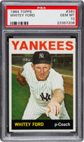 Baseball Cards:Singles (1960-1969), 1964 Topps Whitey Ford #380 PSA Gem Mint 10 - The Ultimate PSAExample! ...