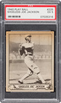 Baseball Cards:Singles (1940-1949), 1940 Play Ball Joe Jackson #225 PSA EX 5....