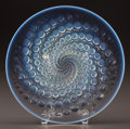 Art Glass:Lalique, R. LALIQUE OPALESCENT VOLUTES COUPE, Circa 1934. M p.310, No. 10-396. Di. 10-7/8 in.. ...