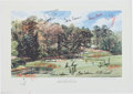 Autographs:Others, 1995 Masters Eleventh Green Multi Signed Lithograph. ...