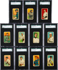 Baseball Cards:Lots, 1914 T213-2 Coupon Cigarettes Collection (11). ...