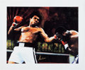 Boxing Collectibles:Autographs, 2000's Muhammad Ali Signed Oversized Canvas. ...