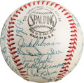 Autographs:Baseballs, 1954 Brooklyn Dodgers Team Signed Baseball, PSA/DNA NM+ 7.5....