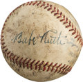 Autographs:Baseballs, Circa 1946 Babe Ruth Single Signed Baseball....