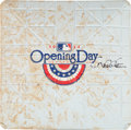 Baseball Collectibles:Others, 2014 Yankee Stadium Opening Day First Base Signed by Derek Jeter....