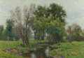 Paintings, HUGH BOLTON JONES (American, 1848-1927). A Meadow Stream. Oil on canvas. 22-1/4 x 32-1/4 inches (56.5 x 81.9 cm). Signed...