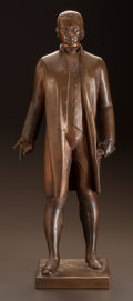 Fine Art - Sculpture, American:Modern (1900 - 1949), GEORGE MANUEL AARONS (American, 1896-1980). Thomas Jefferson, 1937. Bronze with brown patina. 24 inches (61.0 cm) high. ...