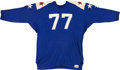 Football Collectibles:Uniforms, 1965 Ralph Neely Game Worn College All Stars Jersey....