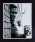 Boxing Collectibles:Autographs, 1990's Muhammad Ali & Joe Frazier Signed Oversized PhotographDisplays. ...
