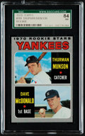 Baseball Cards:Singles (1970-Now), 1970 Topps Thurman Munson - Yankees Rookies #189 SGC 84 NM....