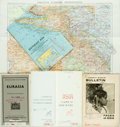 Books:Maps & Atlases, [Maps]. [Asia]. Three Maps of Asia and Three Pamphlets Relating to Asian Art and History. Various publishers and dates. Some...