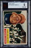 Baseball Cards:Singles (1950-1959), 1956 Topps Mickey Mantle #135 BVG EX 5....