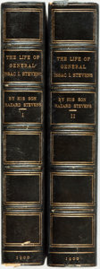 Books:Biography & Memoir, [Featured Lot] Hazard Stevens. The Life of General Isaac IngallsStevens. With Maps and Illustrations. Boston: Hough... (Total:2 Items)