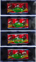 Baseball Cards:Unopened Packs/Display Boxes, 1978 Topps Baseball Tray Packs Quartet (4). ...