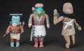 American Indian Art:Kachina Dolls, THREE SOUTHWEST COTTONWOOD KACHINA DOLLS... (Total: 3 Items)