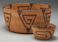 American Indian Art:Baskets, TWO PIMA COILED BOWLS... (Total: 2 Items)