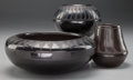 American Indian Art:Pottery, THREE SOUTHWEST BLACKWARE JARS. Blue Corn, Donecia Tafoya...(Total: 3 Items)