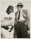 Autographs:Post Cards, Late 1940's Jackie Robinson Signed Photograph to Van Heflin....