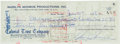Autographs:Checks, 1956 Marilyn Monroe Signed Check on Eve of Wedding to ArthurMiller....