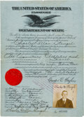 Baseball Collectibles:Others, 1924 Casey Stengel United States Passport Used on Baseball World Tour....
