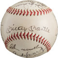 Baseball Collectibles:Balls, 1953 New York Yankees Team Signed Baseball. ...