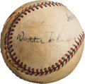 Autographs:Baseballs, Circa 1930 Walter Johnson Signed Baseball....