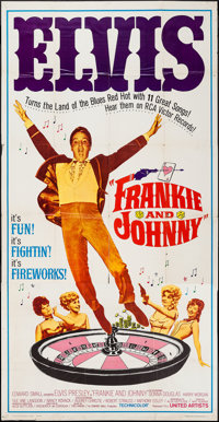 "Frankie and Johnny (United Artists, 1966). Three Sheet (41"" X 78""). Elvis Presley"