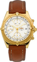Timepieces:Wristwatch, Breitling Ref. K 13047 Yellow Gold Automatic Chronomat, circa 1995....