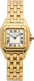 Timepieces:Wristwatch, Cartier Lady's Yellow Gold Panthere, Ref. 01874. ...