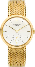 Timepieces:Wristwatch, Patek Philippe Ref. 2581 Fine Gold Gent's Wristwatch, circa 1960's. ...
