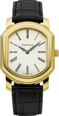 Timepieces:Wristwatch, Tiffany & Co. Ref. 002.1004 Gent's Large Gold Wristwatch. ...