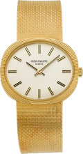 "Timepieces:Wristwatch, Patek Philippe Ref. 3581-1 ""Ellipse Horizontal"" Fine Gold Wristwatch, circa 1970's. ..."
