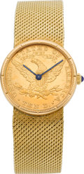 Timepieces:Wristwatch, Corum Ten Dollar Gold Coin Wristwatch. ...