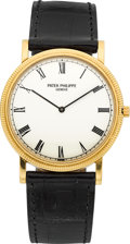 Timepieces:Wristwatch, Patek Philippe Ref. 3520/D Gent's Fine 18k Yellow Gold Wristwatch,circa 1987. ...