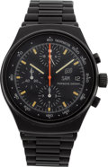 Timepieces:Wristwatch, Porsche Design, Orfina Watch LTD, PVD Coated Steel AutomaticChronograph. ...