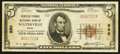 National Bank Notes:Maine, Waterville, ME - $5 1929 Ty. 1 The Peoples-Ticonic NB Ch. # 880. ...