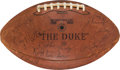 Football Collectibles:Balls, 1964 Washington Redskins Team Signed Game Ball - Paul Krause Collection....