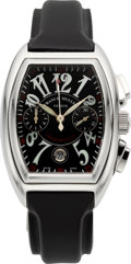 Timepieces:Wristwatch, Frank Muller Ref. 8005 CC Steel Conquistador Chronograph. ...
