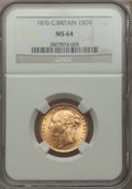 Great Britain, Great Britain: Victoria gold Sovereign 1876 MS64 NGC,...