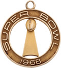 Football Collectibles:Others, 1968 Super Bowl II Pendant Presented To Lionel Aldridge....