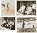 Baseball Collectibles:Photos, 1934 Tour of Japan Snapshot Photographs Lot of 18....