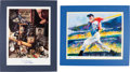 Autographs:Others, 1998 Joe DiMaggio Lithographs Lot of 2....