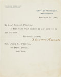 Miscellaneous Collectibles:General, 1897 Theodore Roosevelt Signed Letter....