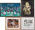 Football Collectibles:Photos, Leonard Marshall Framed Personal Displays Lot of 4 - 3 Signed....