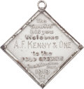Baseball Collectibles:Others, 1919 New York Giants Silver Season Pass....