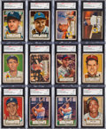 Autographs:Sports Cards, Signed 1952 Topps Baseball SGC Authentic Collection (53)....