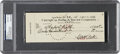 Autographs:Checks, 1941 Babe Ruth Signed Check to His Wife, PSA/DNA Gem Mint 10....