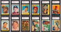 Autographs:Sports Cards, Signed 1956 - 1958 Topps Baseball Card Collection (350)...