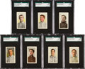 Baseball Cards:Lots, 1910-11 M116 Sporting Life SGC 88 NM/MT 8 Collection (7). ...
