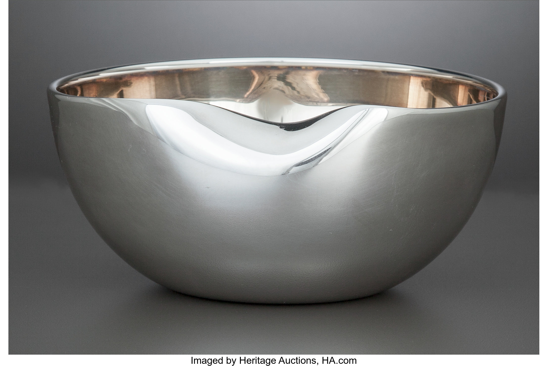 An Elsa Peretti Thumbprint Pattern Silver Bowl For Tiffany Co Lot 75088 Heritage Auctions
